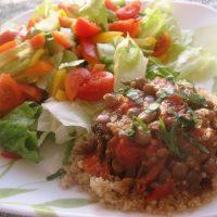 Totally Homemade Lentils & Bruschetta Lunch