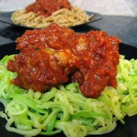Healthy Meatballs and Spaghetti