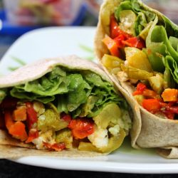 Grilled Veggie Pesto Wrap
